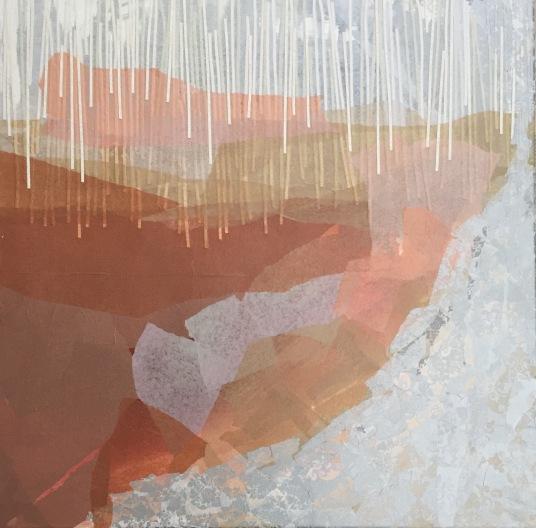 Silencio lúcido Collage 70 cm x 70 cm