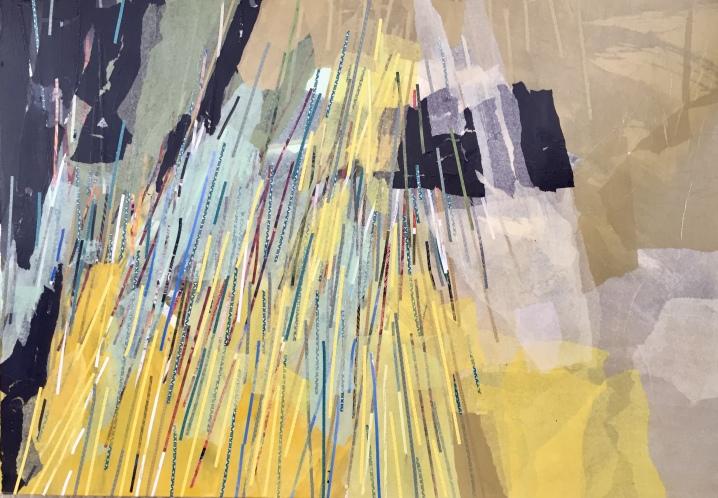 Caos subyacente I Collage 100 cm x 70 cm
