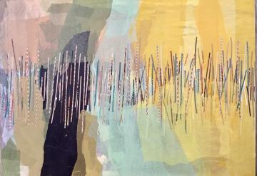 Caos subyacente II Collage 100 cm x 70 cm