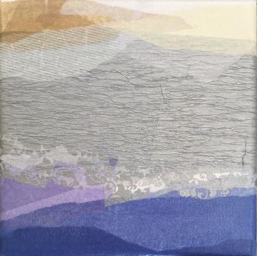 Hilos que respiran Collage Políptico 70 cm x 70 cm; 50 cm x 50 cm; 20 cm x 20 cm