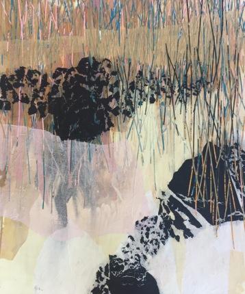 Cárcel de carbón II Collage 100 cm x 120