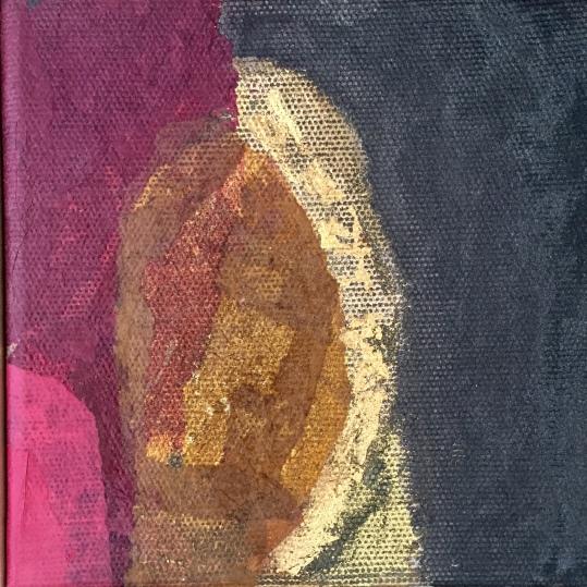 """Fragmentos"" Técnica Mixta"" 20 x 20 cm"